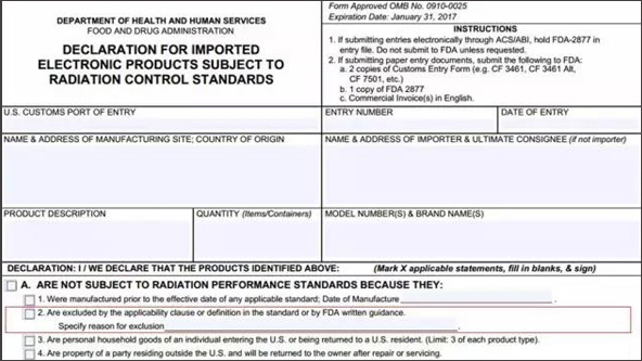 Clarify the indications for FDA certification requirements for LED ...